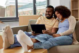 couple looking at laptop